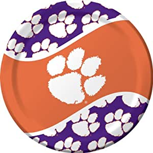 Creative Converting Clemson Tigers Dinner Paper Plates (8 Count)