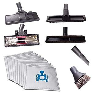 4不同地毯 / 硬质地板吸尘器, crevice 工具 & dusting 刷 + 20真空吸尘器 BAGS for Miele 电子7700