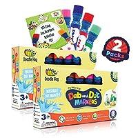 可水洗 | Dab and Dot 记号笔 | 8 色套装 | 适合儿童和学龄前儿童的趣味艺术用品 | 包括 200 多张可下载彩色板 | 学前艺术和工艺品