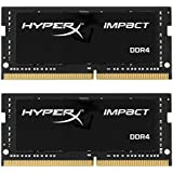 Kingston Technology HyperX Impact 32GB 套装 (2x16GB) 2133MHz DDR4 CL13 260-Pin SODIMM 笔记本电脑 HX421S13IBK2/32