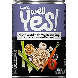 Campbell's Well Yes! Hearty Lentil with Vegetables Soup, 16.3 oz. Can (Pack of 12)