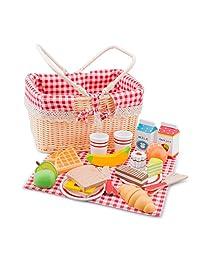 New Classic Toys 10590 - 厨房及食品玩具 - 野餐篮套装 - 27 件
