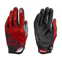 Sparco 002093RS1S 手套 Meca 3 Tg。 红色 S 号,红色,S 号