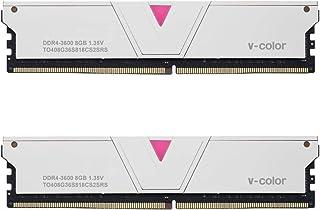 V-Color Skywalker 系列 8GB (1 x 8GB) DDR4 2666MHz (PC4-21300) CL16 1.2V 台式机内存型号 红色 (TA48G26S816R) 16GB(8GBx2)