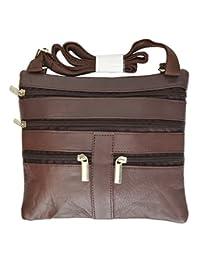 柔软皮革斜挎包钱包单肩包 5 口袋收纳包手提包旅行钱包 #HN907