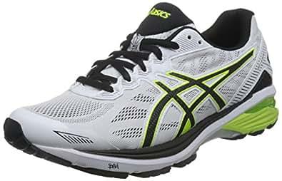 ASICS 亚瑟士 男 跑步鞋GT-1000 5  T6A3N-0107 白色/黄色/黑色 39