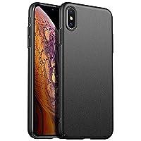 ORNARTO 手机壳适用于 iPhone Xr Max 6.5,[基本系列] 超薄优质硬质塑料哑光防刮外壳适用于 iPhone Xs Max 6.5'(2018) 哑光黑色
