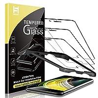 HATOSHI [3件装] iPhone SE 2020/ iPhone SE2(4.7英寸)屏幕保护膜钢化玻璃,[对准托盘易于安装[保护壳]高清清晰度 9H 硬度钢化玻璃屏幕保护膜