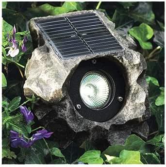 JIAWEI TECHNOLOGY G3149-P2-GN-1 Four Seasons Courtyard High Output 2 Natural White LEDs Solar Rock Flood Light