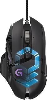 Logitech 罗技 G502 Proteus Spectrum RGB可调式有线游戏鼠标,12,000 DPI,可调重量,11个可编程按钮,与PC / Mac兼容-黑色