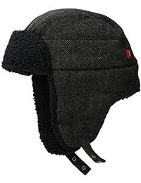 李维斯男式 Micro BOX 图案 two-toned 羊绒衬里 SNAP UP trapper 帽子