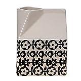 Bloomingville Julie Stoneware 牛奶纸箱霜,黑色/白色