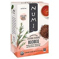 Numi Organic Tea Rooibos 南非博士茶,(3盒裝)每包裝18袋,生物降解茶包中的南非博士茶(包裝可能有所不同),不含咖啡因,優質不含咖啡因的紅茶