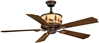 """Vaxcel FN56305BBZ Yellowstone Ceiling Fan, 56"""", Burnished Bronze Finish"""