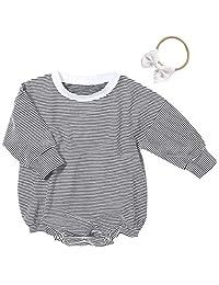 新生儿女婴服装可爱宽松长袖紧身衣连体衣毛衣运动服连体衣连体衣幼儿套装
