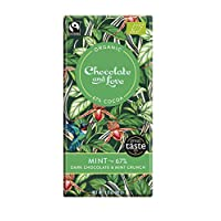 Chocolate & Love 薄荷67% 脆餅干黑巧克力 80克(14包)