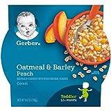 Gerber 嘉宝 Graduates 婴儿早餐食品 - 桃子燕麦,约130克(8包装)