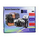 Sima Deluxe 35 毫米相机套装,带携带袋和变焦闪光 FM900K
