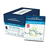 Hammermill 优质白色回收复印纸 3 Hole Punched 8 1 2 X 11,5000 Sheets