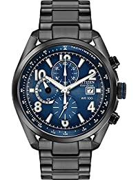 Citizen CA0365-54L 男式手表 黑色 45mm 黑色 离子镀不锈钢