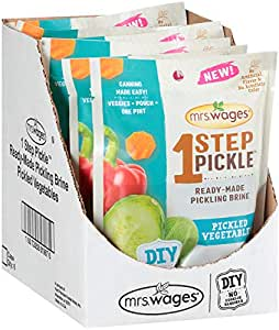 Mrs. Wages 1 Step Pickle Ready-Made Pickling Brine, Pickled Vegetables, Pack of 6