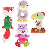TUMAMA 柔软摇铃婴儿玩具,适合新生儿(4 件套)