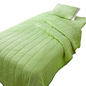 (BELLUNA)BELLUNA 带有5颗星星功能的轻寝具系列「五星+」 蓝色 床垫 单人 绿色 パッド 2枚組 -