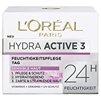 "L'Oreal Paris Dermo Expertise""Hydra Active 3"" Hydrafresh 奶油,適用于干和敏感肌膚,50 毫升"