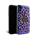 iPhone X Case - FELONY CASE - Beautiful & Stylish 3D Geometric Kaleidoscope Design - Shock Absorbing Protective iPhone X Case Protects Screen & Body COSMIC HOLOGRAPHIC