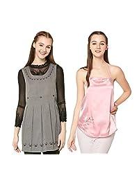 美妮 孕妇防辐射服两件套 银纤维吊带围裙 夏季电脑孕妇防辐射衣服马甲