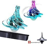 Spinning Top - 原创龙卷风陀螺,风吹转陀螺仪*玩具,适合儿童和成人,非常适合派对或办公室装饰 Multicolor + Green