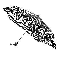 Totes 迷你自動開合雨傘,斑馬 43 英寸 arc