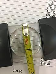 ESCHENBACH 便携式放大镜 滑动门顶 倍率5倍 黑色 1711