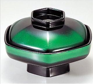 碗 六角煮物碗 绿色食物可清洗 [16φ x 9.9cm] (7-272-8) 耐热ABS树脂 可用洗碗机清洗 饭店 旅馆 漆器 日式餐具 餐饮店 业务用