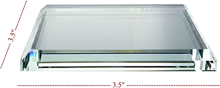 """水晶佛罗里达水晶雕像和其他珍贵收藏品 - 有各种形状和尺寸可供选择 透明 3.5"""" SQUARE crystal_florida_riser_3.5SQ"""