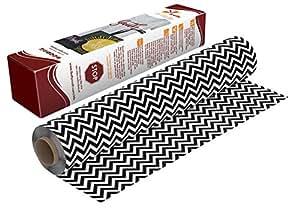 萤火虫工艺图案传热乙烯基剪影和摩羯座,30.48 厘米 x 49.53 厘米 黑色 V 形图案 1 sheet