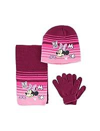 Textiel Trade 女童米妮条纹帽子围巾和手套 3 件套