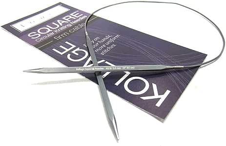 Kollage 方形圆形 40 英寸 (101cm) 针织针牢固电缆;尺寸 US 1.5 (2.5mm) Size-US-0-(2.0mm) A9800C40