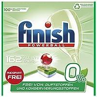 Finish 0% 多效合一洗碗機用洗滌塊,不含磷酸酯,抵抗頑固油脂污漬,162片大包裝,6袋 (6 x 27塊)