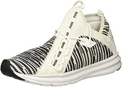 PUMA 男士 Enzo Peak 运动鞋 白色/黑色 11.5