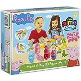 Peppa Pig 小猪佩奇 橡皮泥和 Play 3D 人物塑造模具(多色)