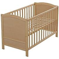 roba 婴儿 - & 婴儿床 , 60 x 120厘米 , 婴儿床上 , 3格可调节高度 , 木自然 , 扁杆