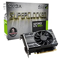EVGA NVIDIA GeForce GTX 1050 Ti 游戏,4GB GDDR5,DX12 OSD 支持 (PXOC) 显卡