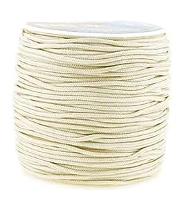 Mandala Crafts 百叶窗、窗帘和滚轴编织尼龙伸展绳替换件 Vanila 2mm Lift Cord CC1