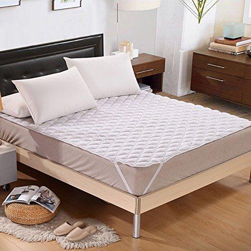 采易轩 可水洗防滑床护垫1.8酒店席梦思加厚舒适透气纯白色保护罩 白色240g 1.5m(5英尺)床