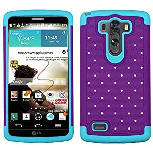MyBat FullStar Protector Cover for LG G3 - Retail Packaging - Purple/Tropical Teal