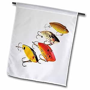 钓鱼–鱼饵–旗帜 12 x 18 inch Garden Flag