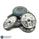 Benchmark 磨砂 7.62 cm 快速更换凸轮锆石弧形焊接翻片片 - 10 个装