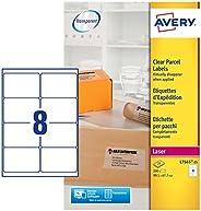 Avery L7565-25 自粘清晰包裹/運輸標簽,每張 A4 張標簽 原裝 1 白色