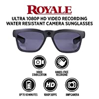 GoVision Royale 超高清摄像机太阳镜 Royale 超高清摄像机防水太阳镜,黑色